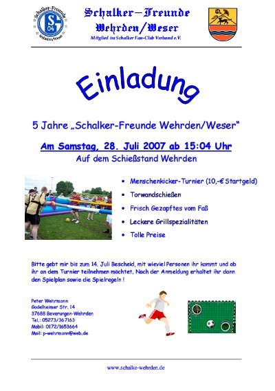 5 Jahre Schalker Freunde Wehrden/Weser
